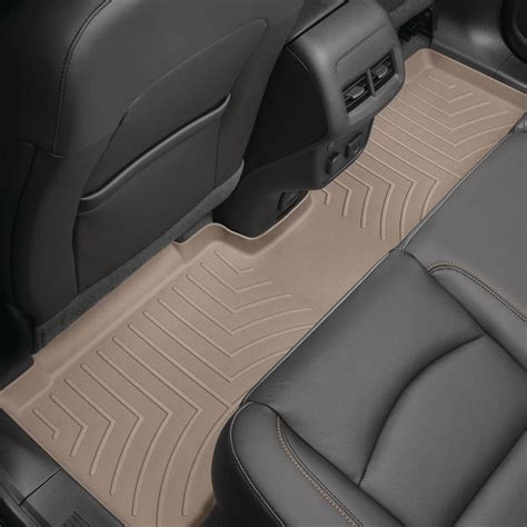 weathertech tanrear floorlinervolkswagenatlas fits vehicles   row bucket seats