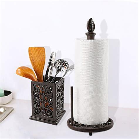 jogreful vintage metal paper towel holder brown cast iron
