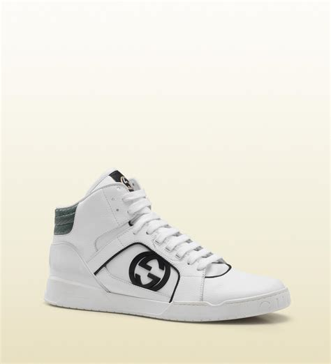 gucci white leather hi top sneakers sneaker cabinet