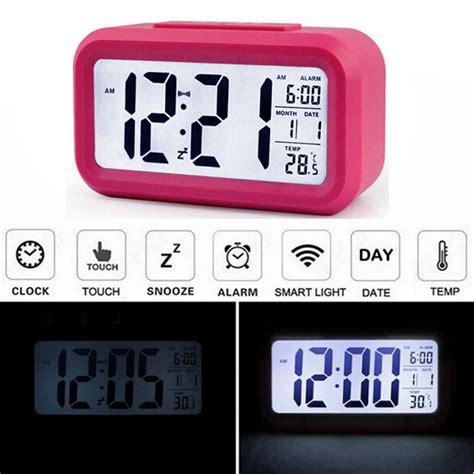 led digital lcd alarm clock time calendar thermometer snooze backlight at banggood