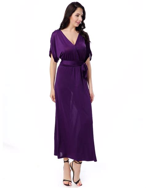 Vneck Dress Xl sumer dress v neck sleeve solid plus size 6xl empire ankle length dresses in