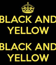 black and yellow black and yellow poster caca keep
