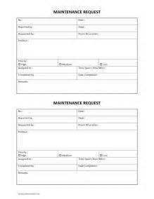 Request Forms Templates by Hotel Maintenance Request Form Freewordtemplates Net