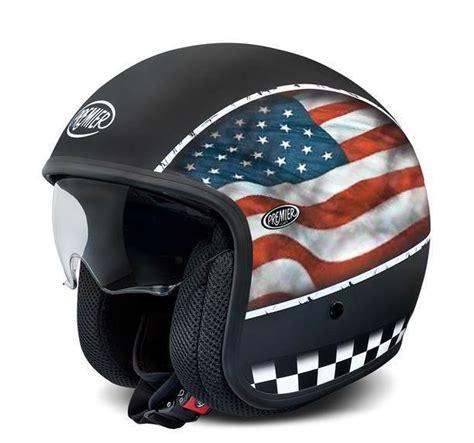 Motorradhelme Usa by Premier Vintage Flag Usa Premier Jethelm Ece 24helmets De