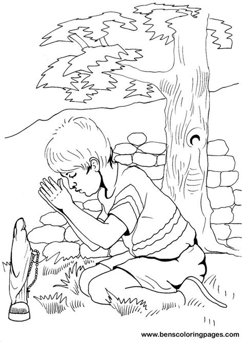coloring page prayer jesus pray coloring pages