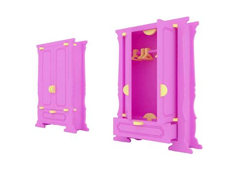 barbie armoire barbie wardrobe cabinet barbie scale size barbie scale