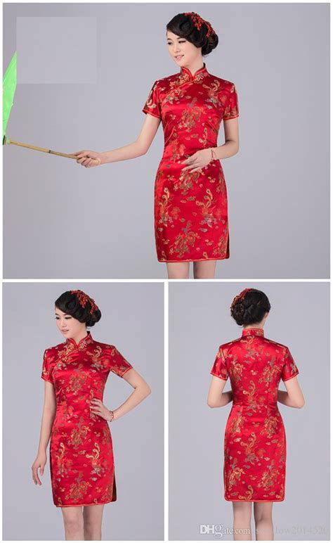 Printed Cheongsam new design cheongsam dress vintage printed