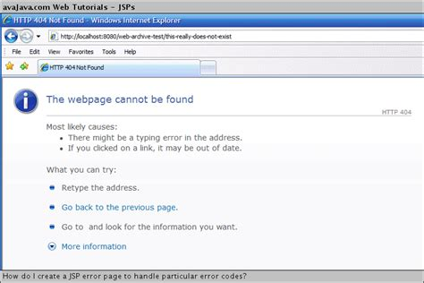 xp jsp tutorial how do i create a jsp error page to handle particular