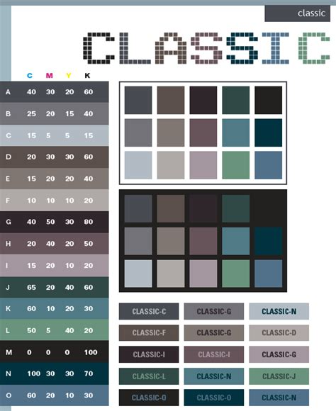 Classic Color Combinations | classic color schemes color combinations color palettes