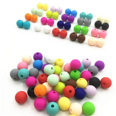 Free Shipping Chew Silicone beads children teething chew silicone bead 10MM silicone beads