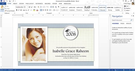 word templates for announcements graduation invitation templates microsoft word gangcraft net