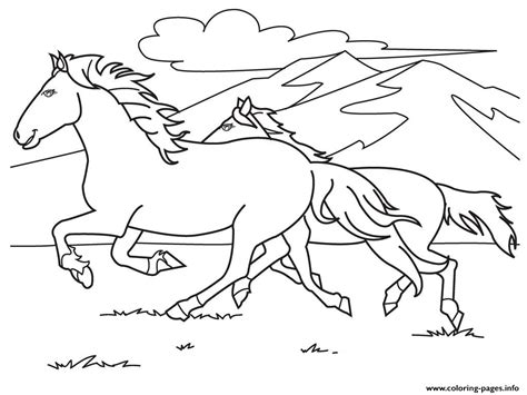 white horse coloring page running white horse s0e59 coloring pages printable