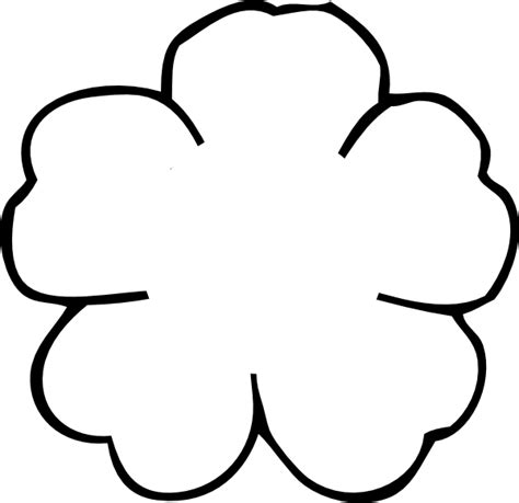 flower outline no center clip art at clker com vector