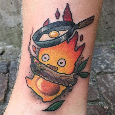 calcifer tattoo calcifer from yesterday calcifer studioghibli