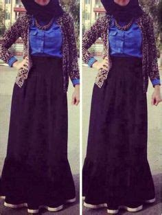 Cacao Hijabmatch Royal Blue what goes with a blue skirt fashion maxi blue maxi skirts