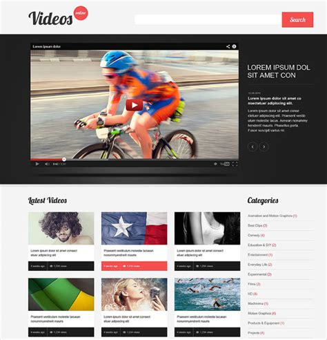 theme wordpress video youtube free 13 youtube wordpress themes templates free premium