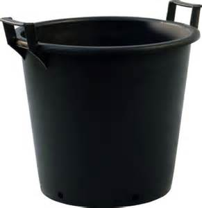 Large Black Plant Pots 5 X 50 Litre Heavy Duty Black Plastic Plant Pots Tubs With