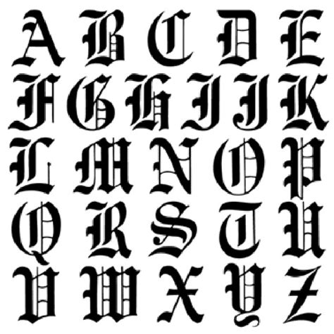 printable old english fonts 5 best images of printable old english alphabet a z
