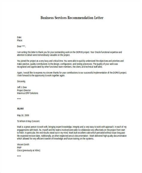 Business Customer Reference Letter Sle sle letter of recommendation 20 28 images sle