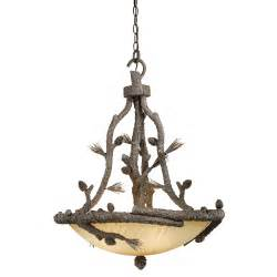 Lodge Lighting Chandeliers Rustic Chandeliers Aspen Ponderosa Chandelier Black