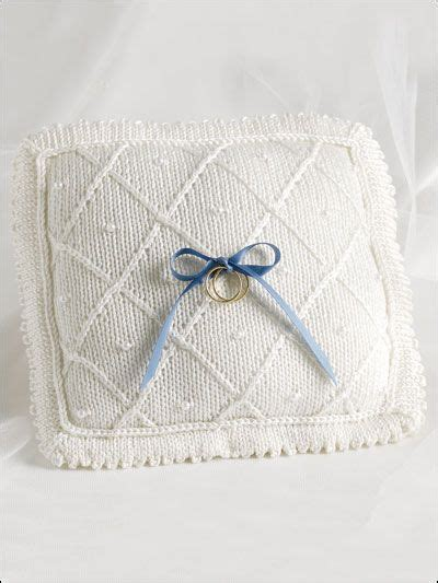 wedding ring cushion knitting pattern this wedding pillow is a lovely gift for any