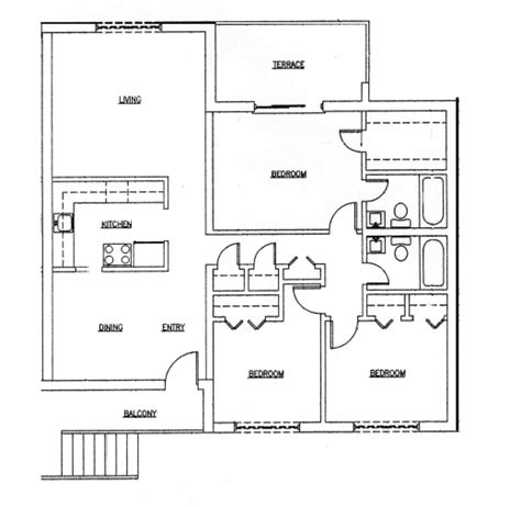 3 bedroom 2 bathroom house plans marvelous 2 bedroom and bathroom house plans 3 br bath