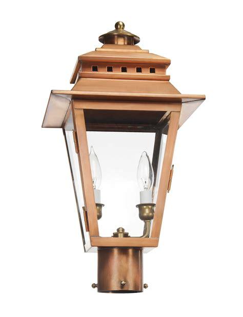 copper l post lantern the collection as 400 electric post lantern