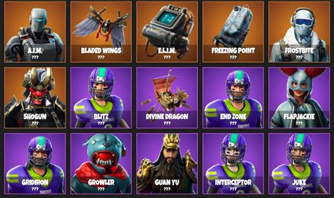 cosmetic items forthcoming  fortnite revealed