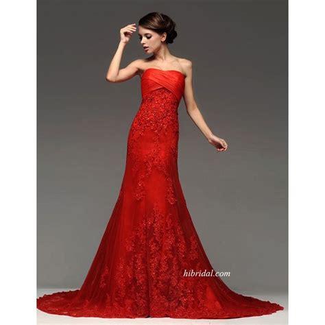 Rotes Hochzeitskleid by Colored Wedding Dresses Designer