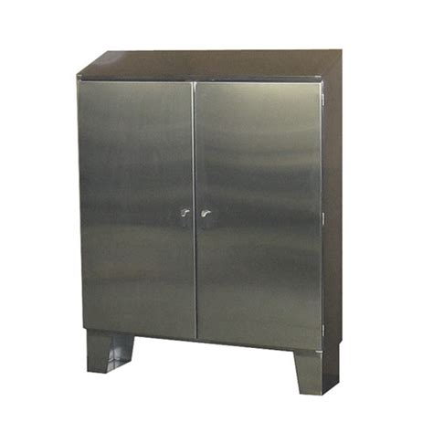 Stainless Steel Cabinet Door Stainless Steel Cabinet Floor Mount Door W Sloped Top 60 Hx72 Wx10 D Heritage
