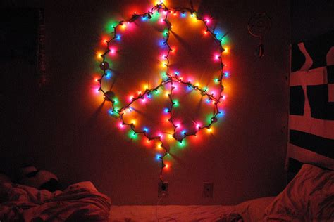peace sign christmas lights simbolo da paz on