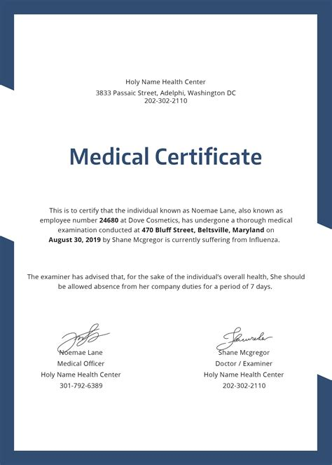 doctors certificate template medicle certificate gallery cv letter and