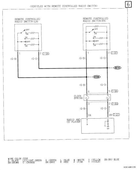 need radio wiring diagram for 2003 mitsubishi eclipse