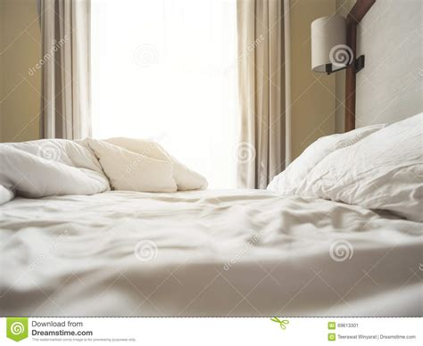 bright morning pillow top beds bed sheet pillows and blanket messed up in the morning