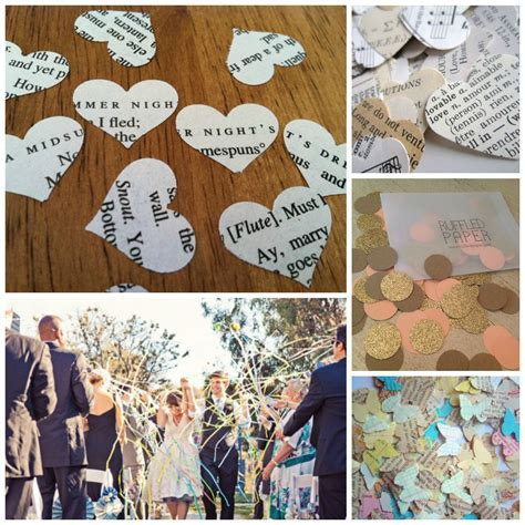 Alternatives to Wedding Confetti   Perfect Details