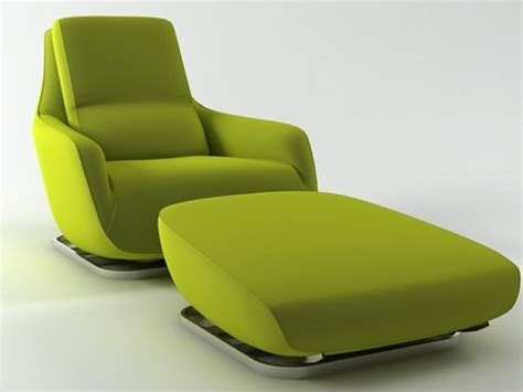 Large Armchair by Shaman Large Armchair And Footstool 3d Model Ligne Roset