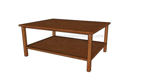diy coffee table plans howtospecialist how to build