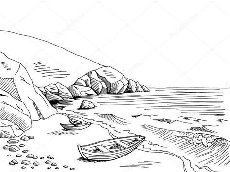 boat cartoon black and white sea cartoon black and white www pixshark images