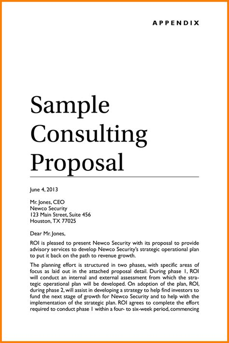 consulting proposal gallery