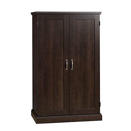 sauder select computer armoire cinnamon cherry office depot
