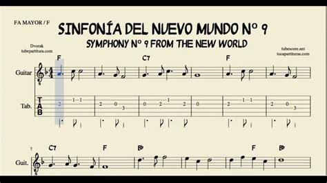 nuevos acordes de guitarra sinfon 237 a del nuevo mundo tablatura y partitura f 225 cil del