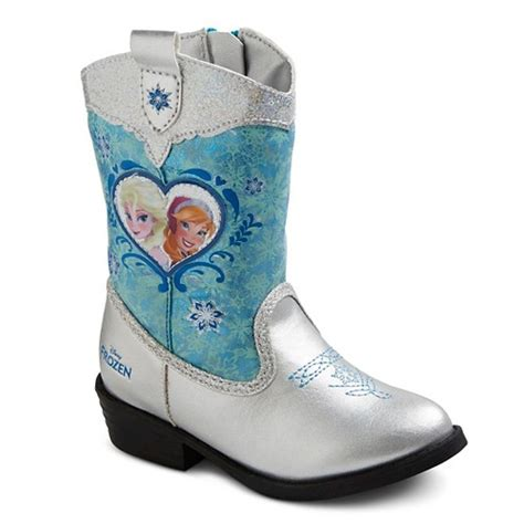 frozen boots disney toddler frozen cowboy boots blue ebay