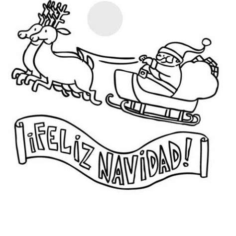 imagenes en blanco de navidad dibujos para colorear de un cartel de feliz navidad