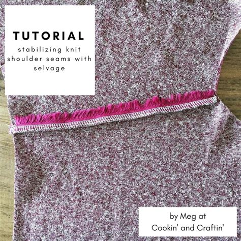how to sew knitted shoulder seams cookin craftin tutorial stabilize knit shoulder