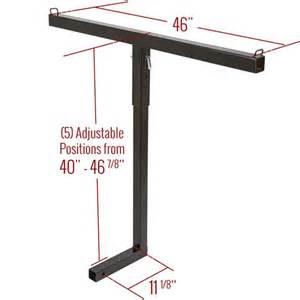 truck bed hitch extender for lumber ladder or canoe