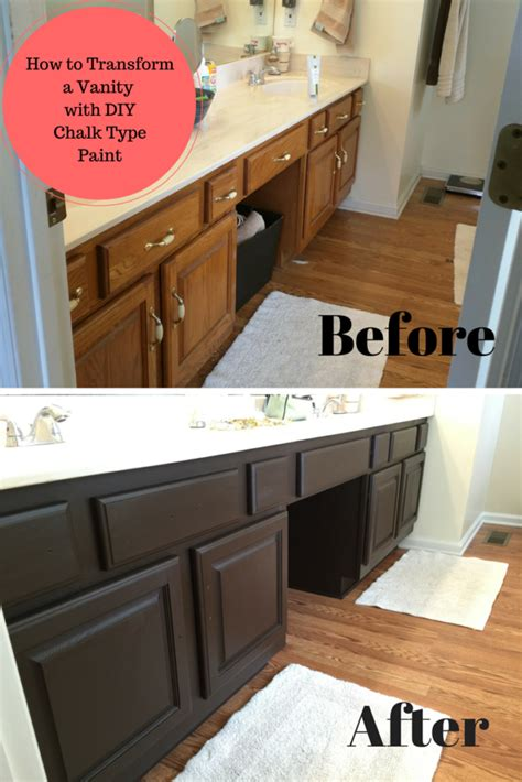 Diy Bathroom Paint Ideas by Bathroom Vanity Transformation With Diy Chalk Type Paint