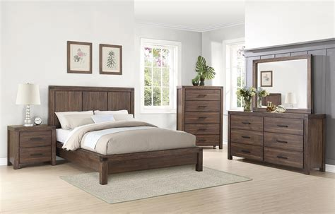 coaster lancashire platform bedroom set cinnamon 204111