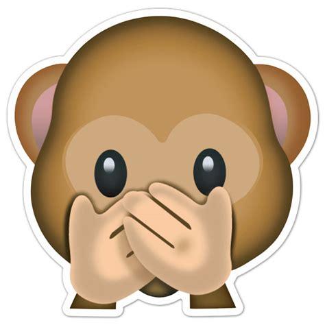 imagenes del emoji del mono pegatina mono que no quiere hablar