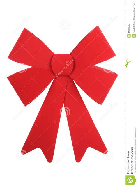 big red christmas bow white isolated background royalty