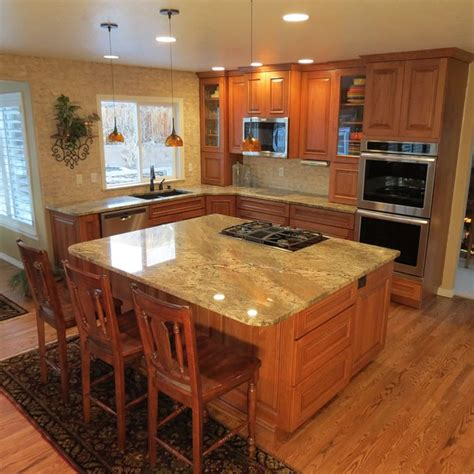 hickory cabinets with granite countertops hickory cabinets with netuno bordeaux granite countertops